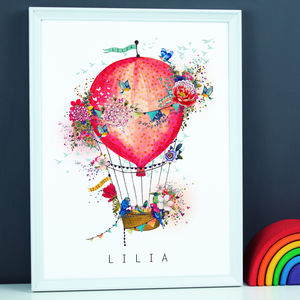 Air Balloon Name Print - animals & wildlife