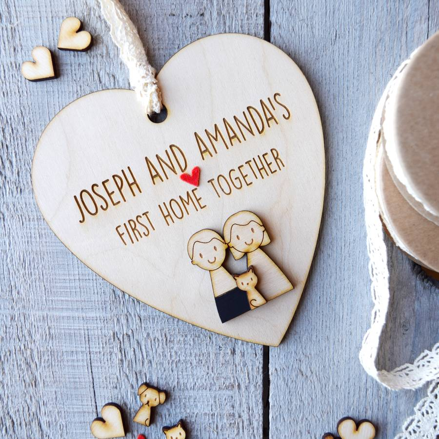 Personalised First Home Together Heart By Just Toppers