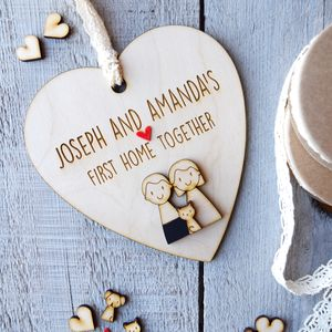 Personalised First Home Together Heart - housewarming gifts