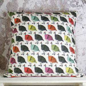 Guinea Fowl Handmade Cushion Cover