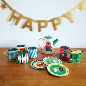 11 Pcs Retro Style Animal Tin Tea Play Set - view all sale items