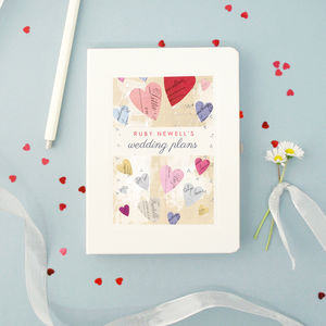 Personalised Wedding Engagement Notebook - hen party gifts & styling