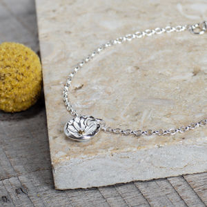 Silver Daisy Disc Charm Bracelet - view all new
