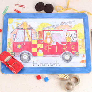Fire Engine Placemat - dining room