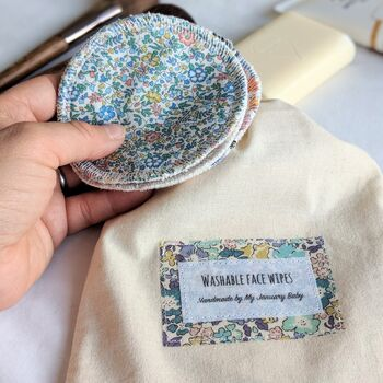 Personalised Liberty Print Reusable Face Wipes
