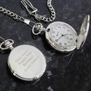 Personalised Message Pocket Watch