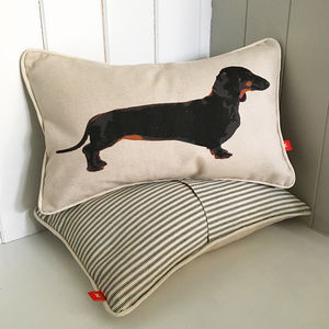 Dachshund Mini Bolster Cushion - patterned cushions