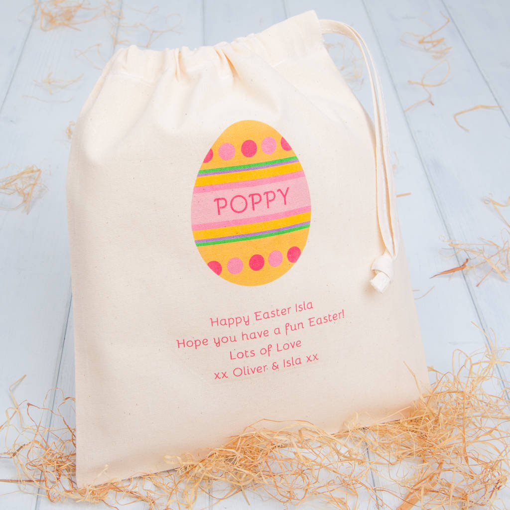 Personalised egg easter gift bags by british and bespoke personalised egg easter gift bags negle Gallery
