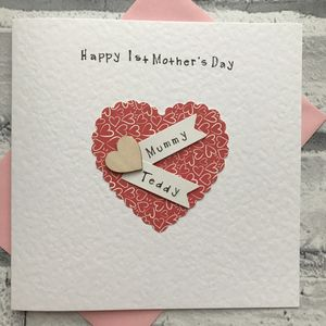 Personalised 1st Mother's Day Heart Card