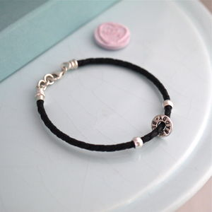 Mini Washer Leather Bracelet - bracelets & bangles