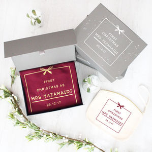 Personalised Mrs 'First Christmas' Gift Set - shop by category