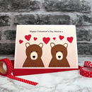 'Valentines Bears' Personalised Valentines Card