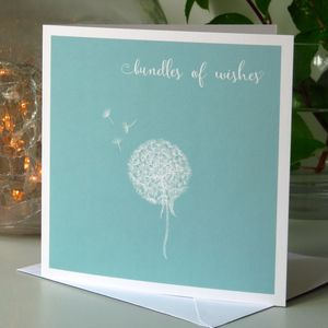 'Bundles Of Wishes' Sentiment Card - get well soon cards