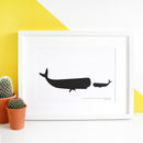 Big And Little Whale A4 Print