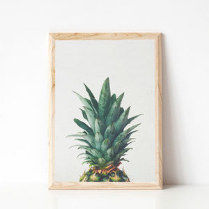 Pineapple Top Photographic Fruit Print