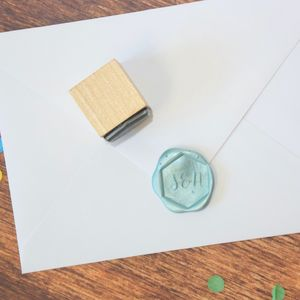 Hexagonal Monogram Personalised Wax Seal Stamp - wax seals
