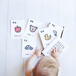 Personalised Alphabet Flash Cards - stocking fillers for babies & children