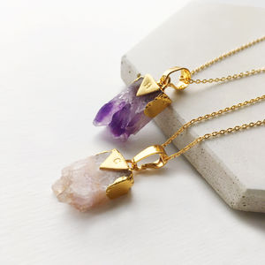 Personalised Amethyst Necklace - necklaces & pendants