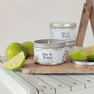Daisy And Dot Gin And Tonic Tin Candle