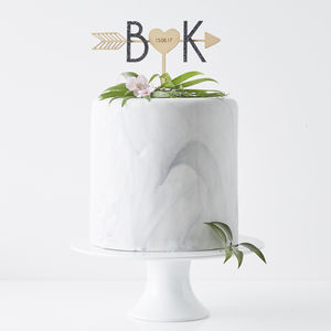 Personalised Arrow Initial Cake Topper - cake decoration