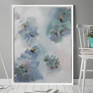 'Rosa Wisp' Framed Giclée Abstract Canvas Print Art - modern & abstract