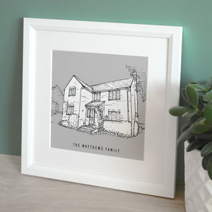 Graphic House Illustration - personalised
