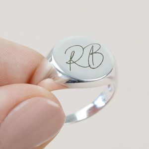 Personalised Sterling Silver Signet Ring - original signet rings