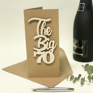 Personalised 'The Big 70' Birthday Card