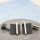 Modern Art Deco Cufflinks