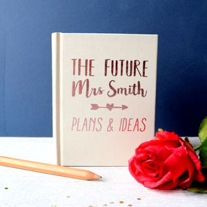 Rose Gold Future Mrs Engagement Notebook