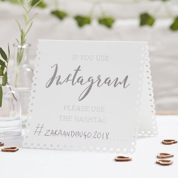 If You Instagram Wedding Or Party Tent Cards