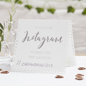 If You Instagram Wedding Or Party Tent Cards - room decorations