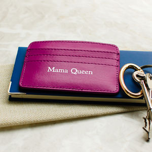 'Mama Queen' Leather Card Holder - womens