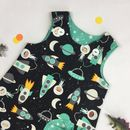 Girls Space Print Pinafore Dress