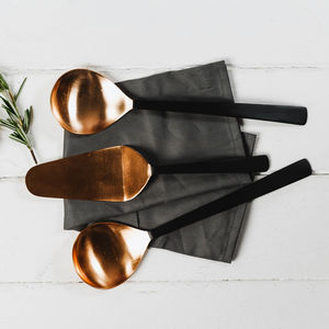 Copper And Black Utensil Set - copper gifts