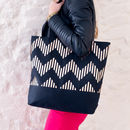 The Zig Black And Copper Shopper Bag
