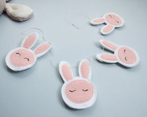 Bunny Garland Decor - children's room