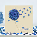 I Love Nain Butterfly Card, Nain Birthday Card