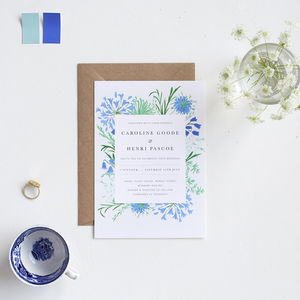 Coastal Flowers Wedding Invitation