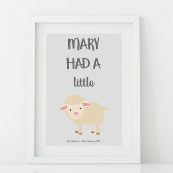 Mary Had A Little…