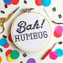 Bah! Humbug Cross Stitch Craft Kit