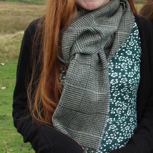 Garsdale Check Wool Scarf - hats, scarves & gloves