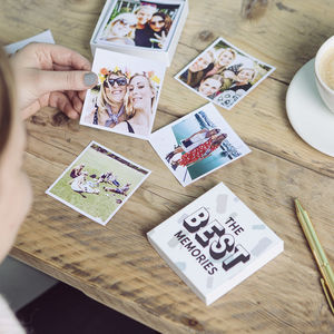 Personalised 'The Best Memories' Photos In A Box - gifts for friends