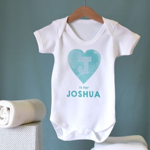 Personalised Heart Baby Vest - clothing