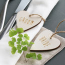 Personalised Heart Place Setting Set Of Two