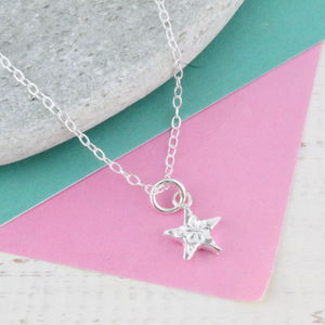 Personalised Mini Sterling Silver Star Pendant