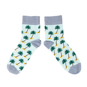 Colorful Cotton Palm Tree Socks - gifts for him