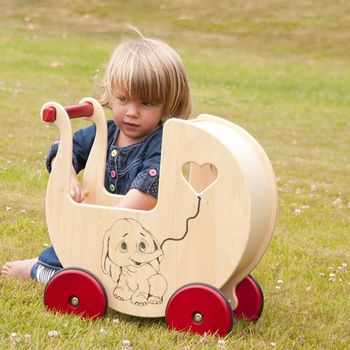 Custom Wooden Dolls Pram