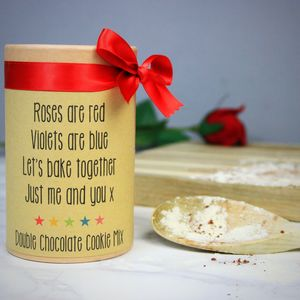 Personalised Valentine Cookie Mix - personalised gifts for her