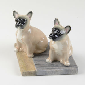 French Bulldog Salt And Pepper Shakers - salt & pepper pots